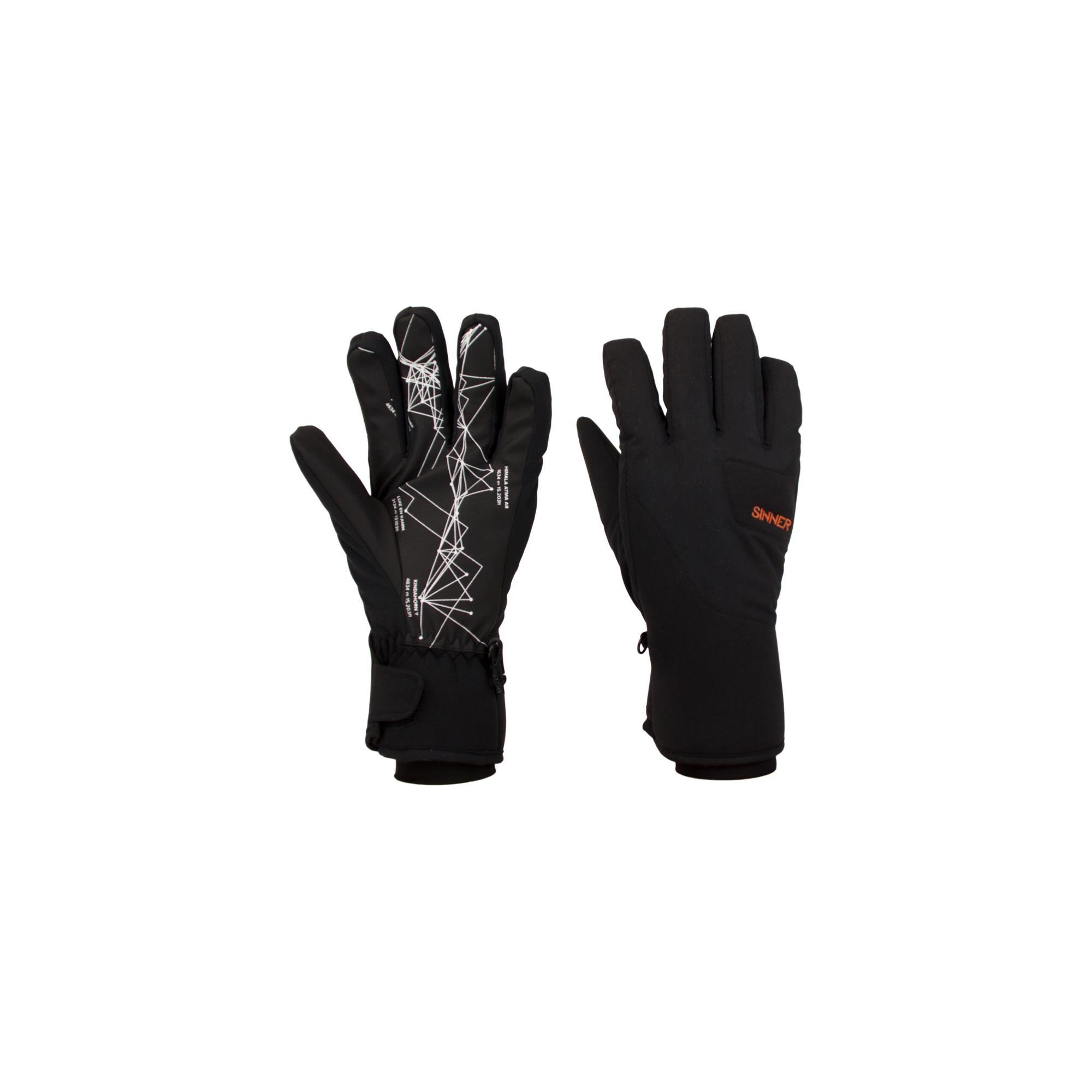 Sinner Skihill Handschoenen Dry-s® Unisex - Zwart - Maat 9