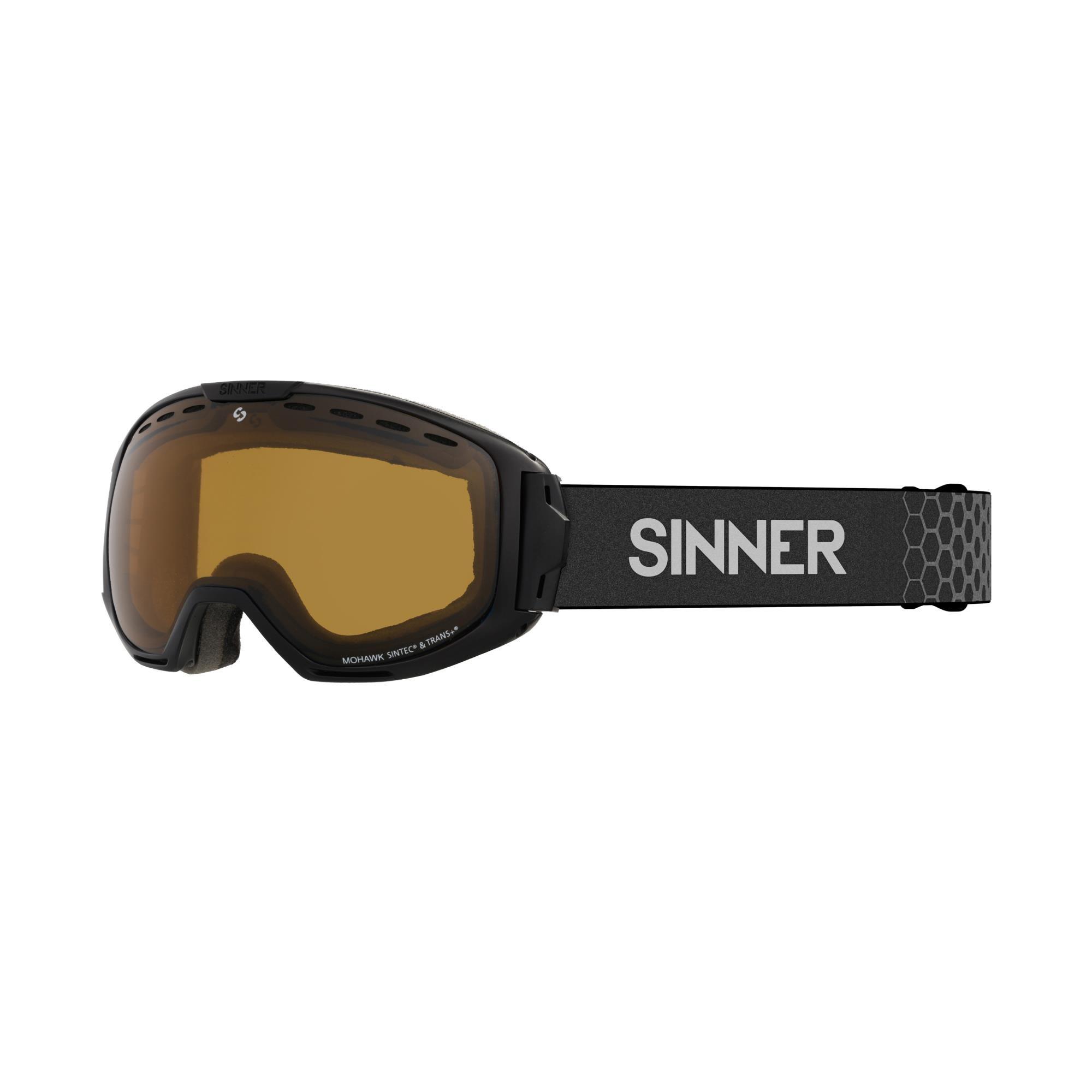 Sinner Mohawk Skibril - Zwart - Sintec®/Trans+®-Lens