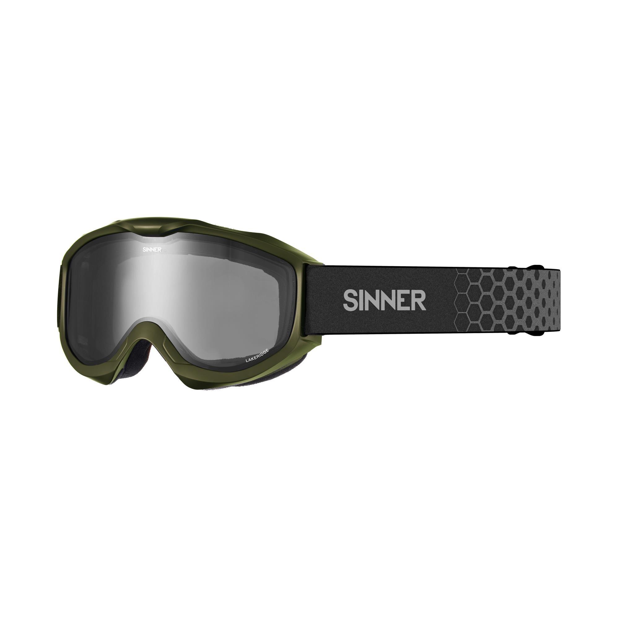 Sinner Lakeridge Skibril - Mat Mosgroen - Smoke Lens
