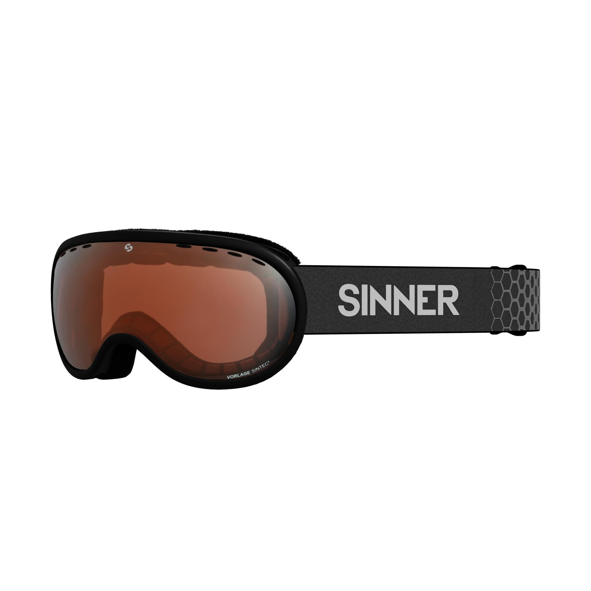 Sinner Vorlage Skibril - Mat Zwart - Oranje Sintec®-Lens