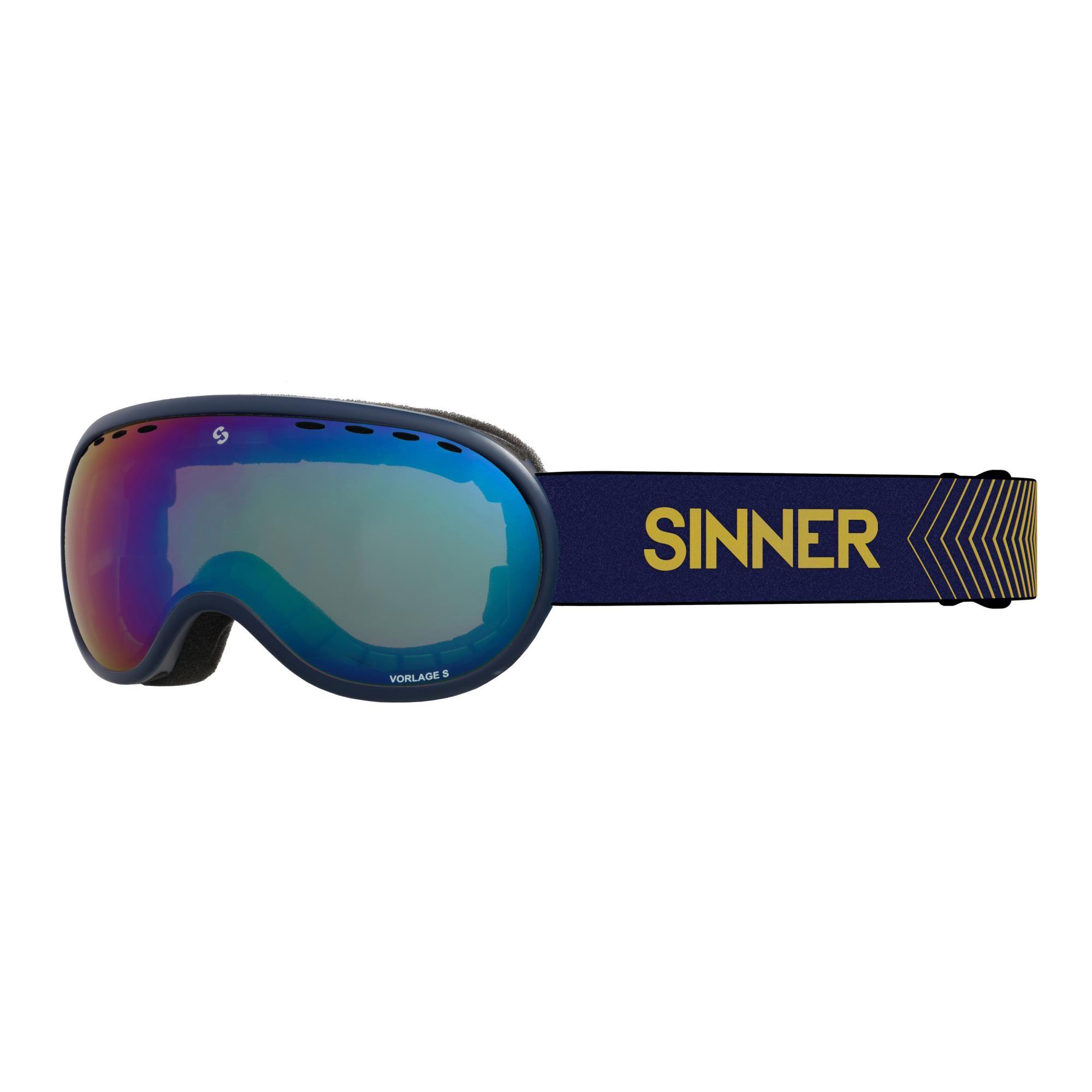 Sinner Vorlage Skibril - Donkerblauw - Volledig Blauwe Spiegellens