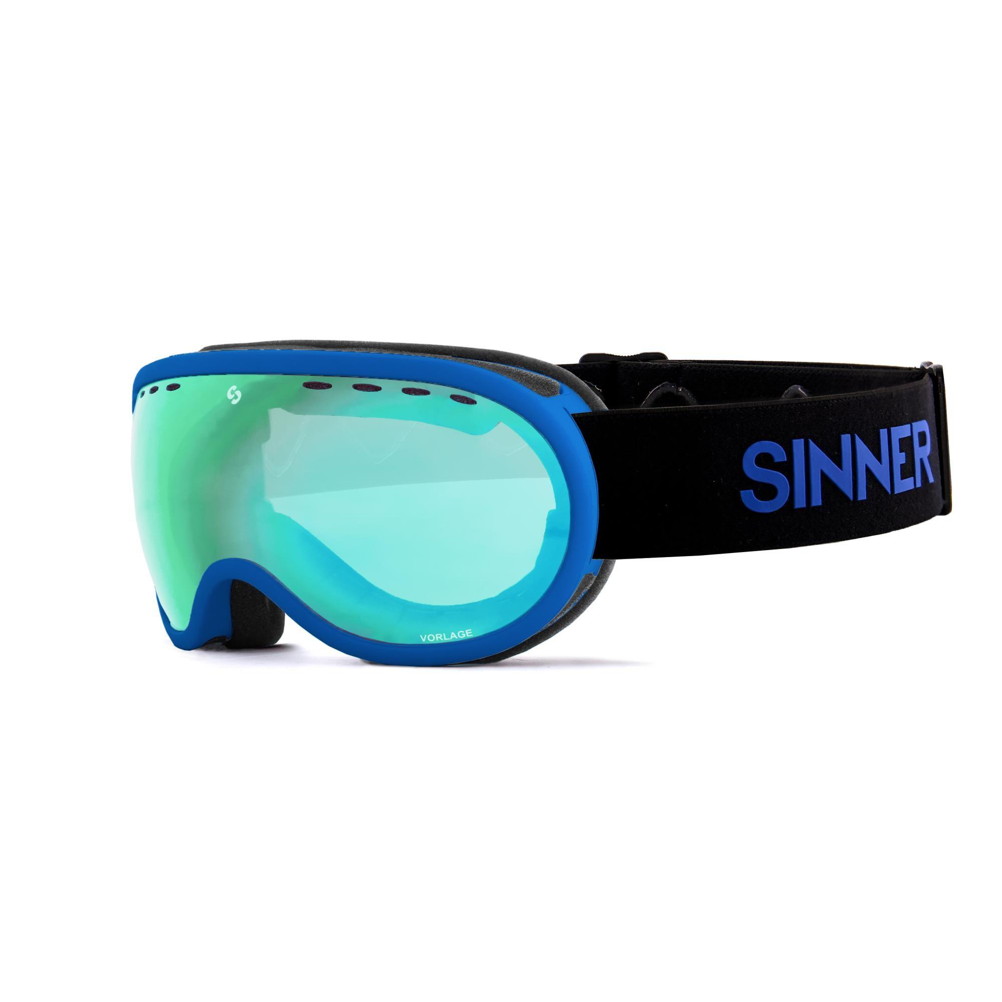 Sinner Vorlage Skibril - Mat Groen - Groene Spiegellens