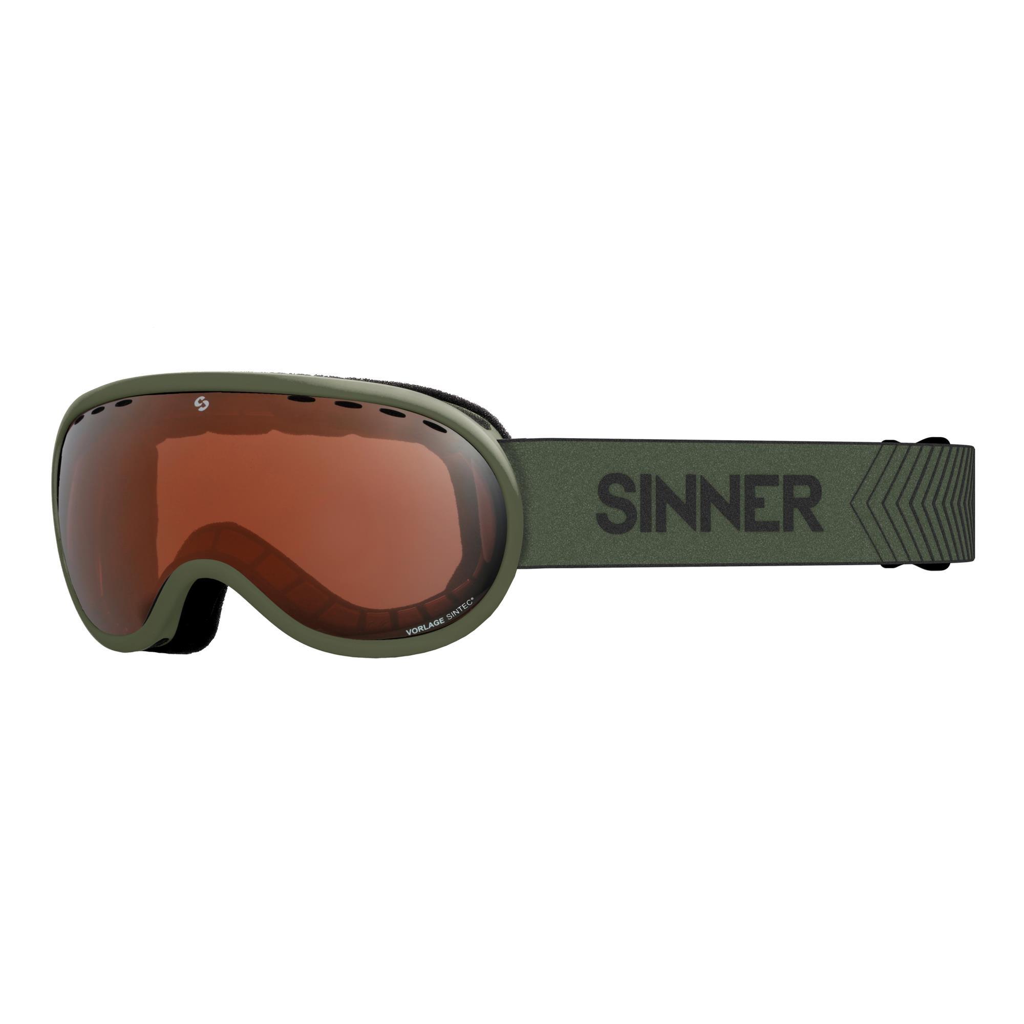 Sinner Vorlage Skibril - Mosgroen - Oranje Sintec® Lens