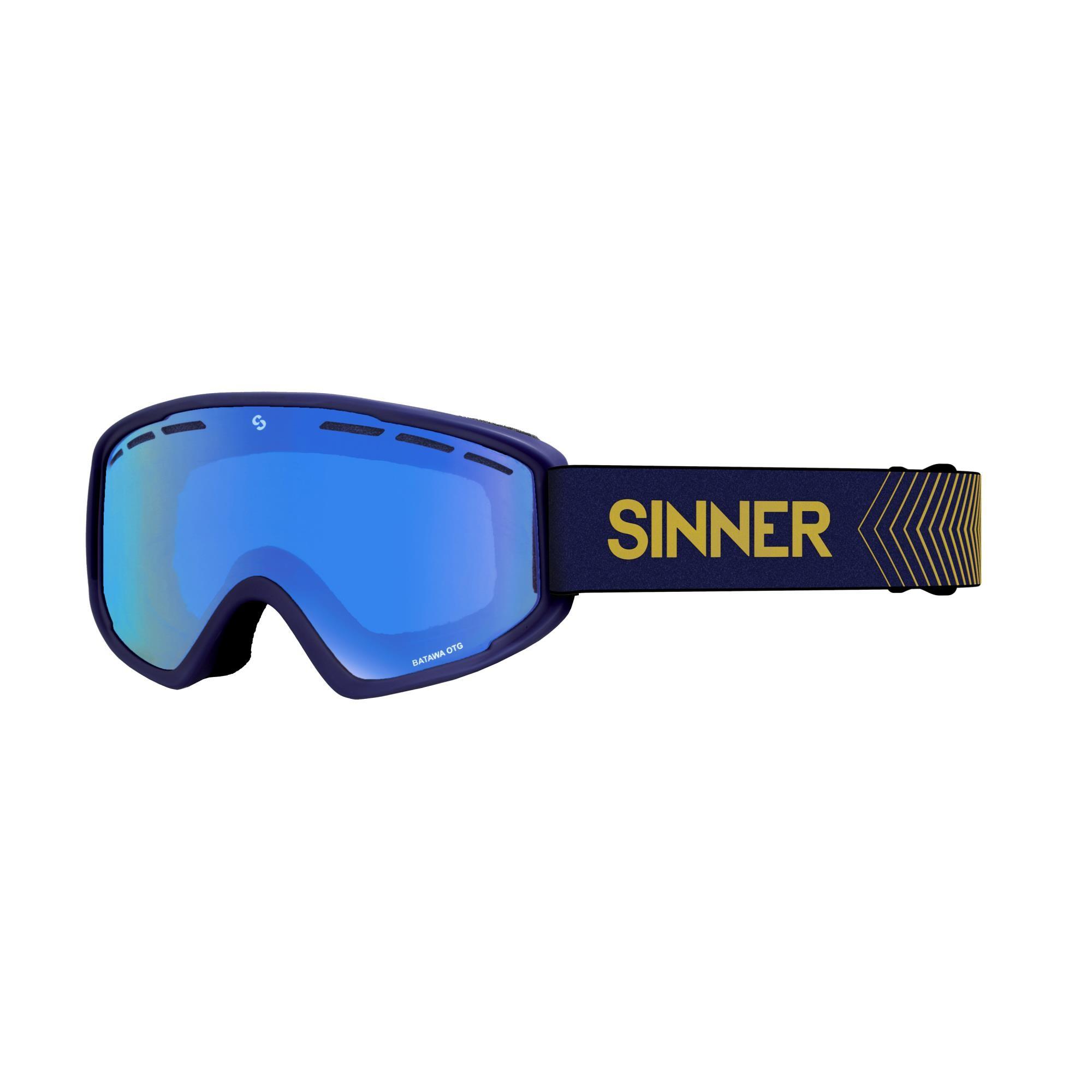 Sinner Batawa Skibril Otg - Blauw Frame - Volledig Blauwe Spiegellens