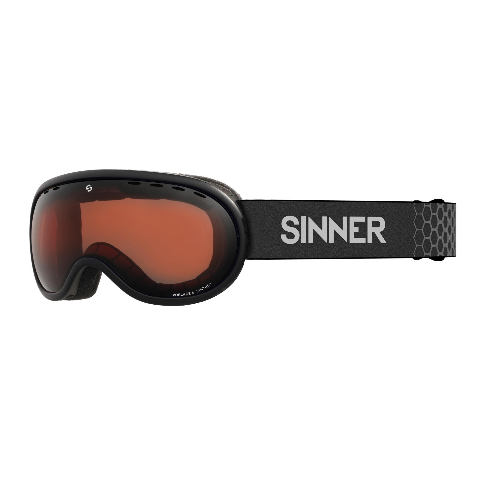 Sinner Vorlage S Skibril - Mat Zwart Frame -Oranje Sintec®-Lens