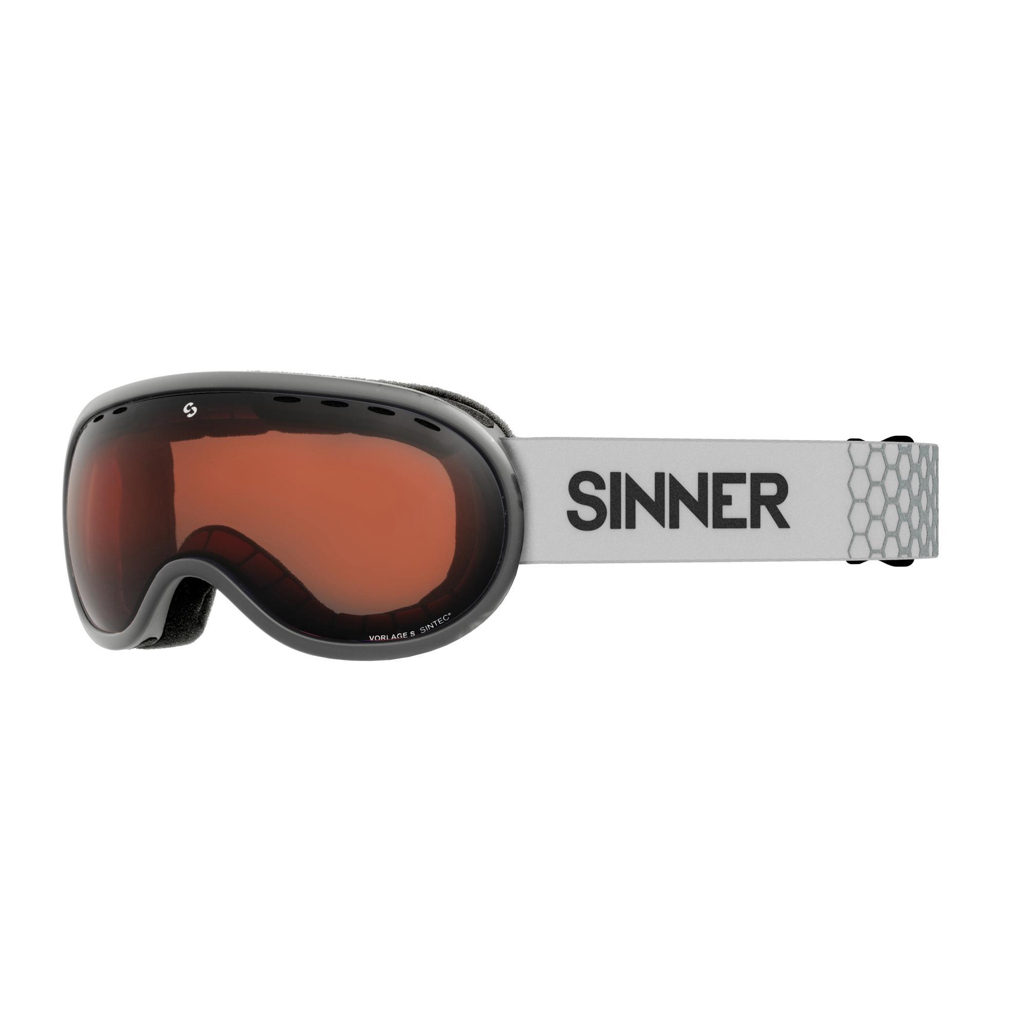 Sinner Vorlage S Skibril - Mat Lichtgrijs Frame -Oranje Sintec®-Lens