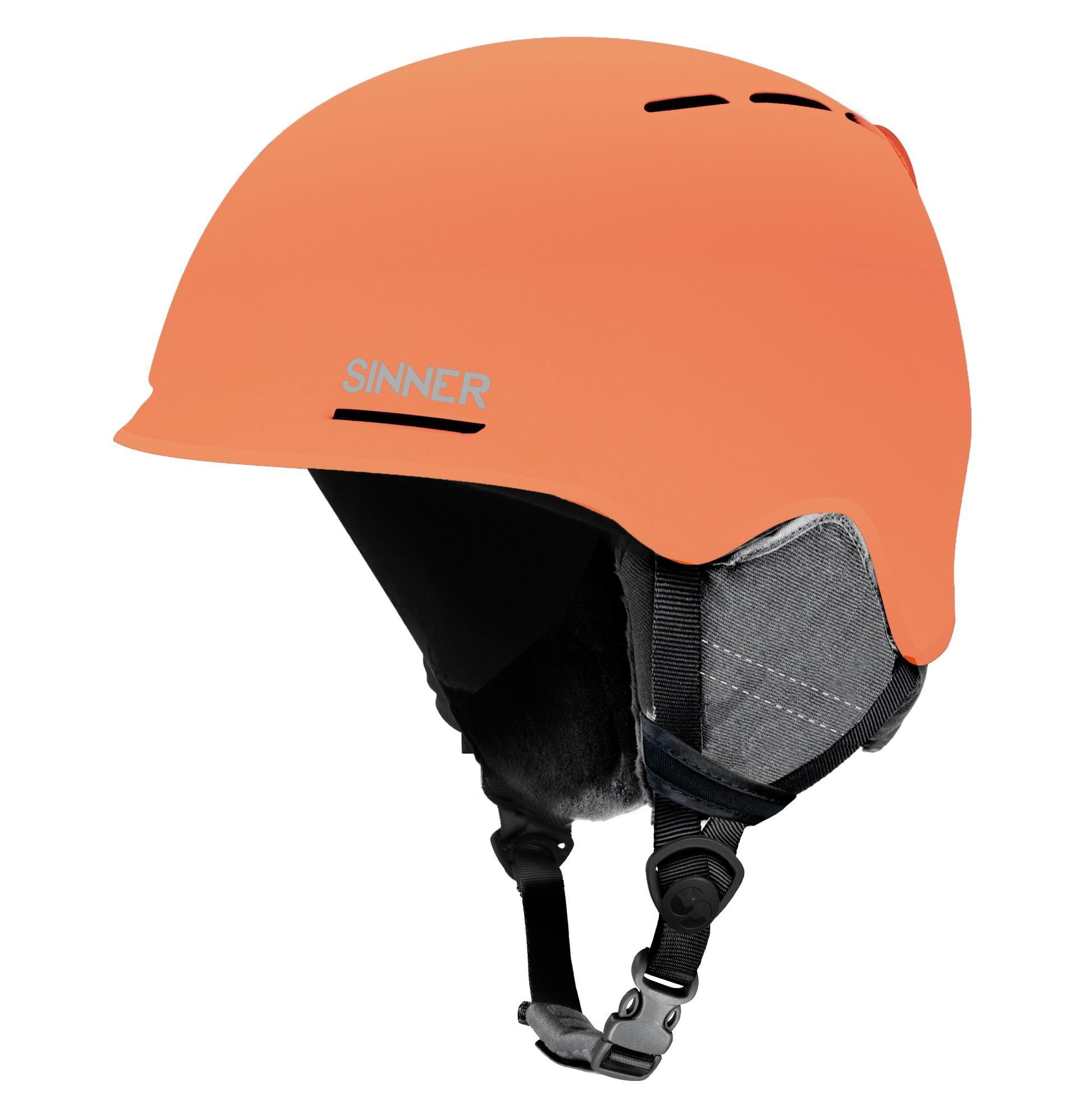 Sinner Fortune Skihelm - Mat Neon Oranje - Maat M - 57