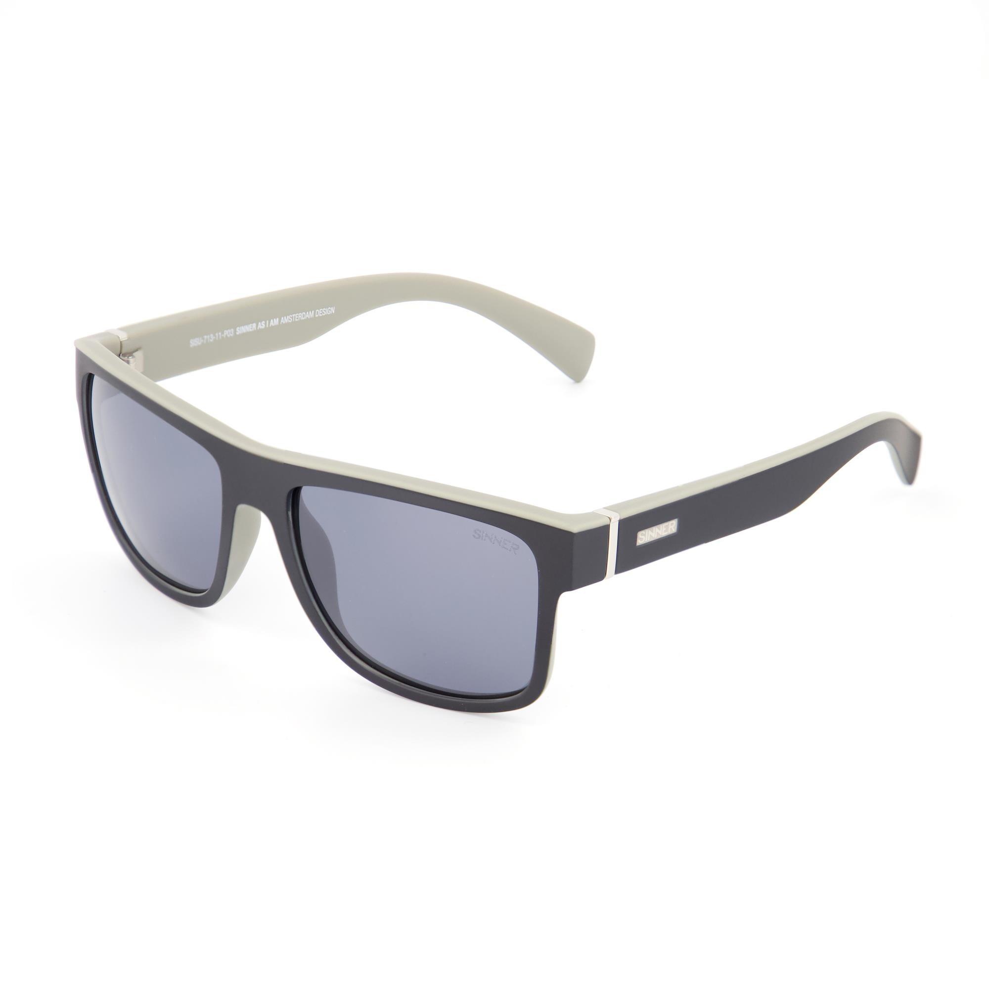Sinner Skagen Sintec® Zonnebril - Mat Zwart/grijs Frame - Sintec® Flash Spiegellens