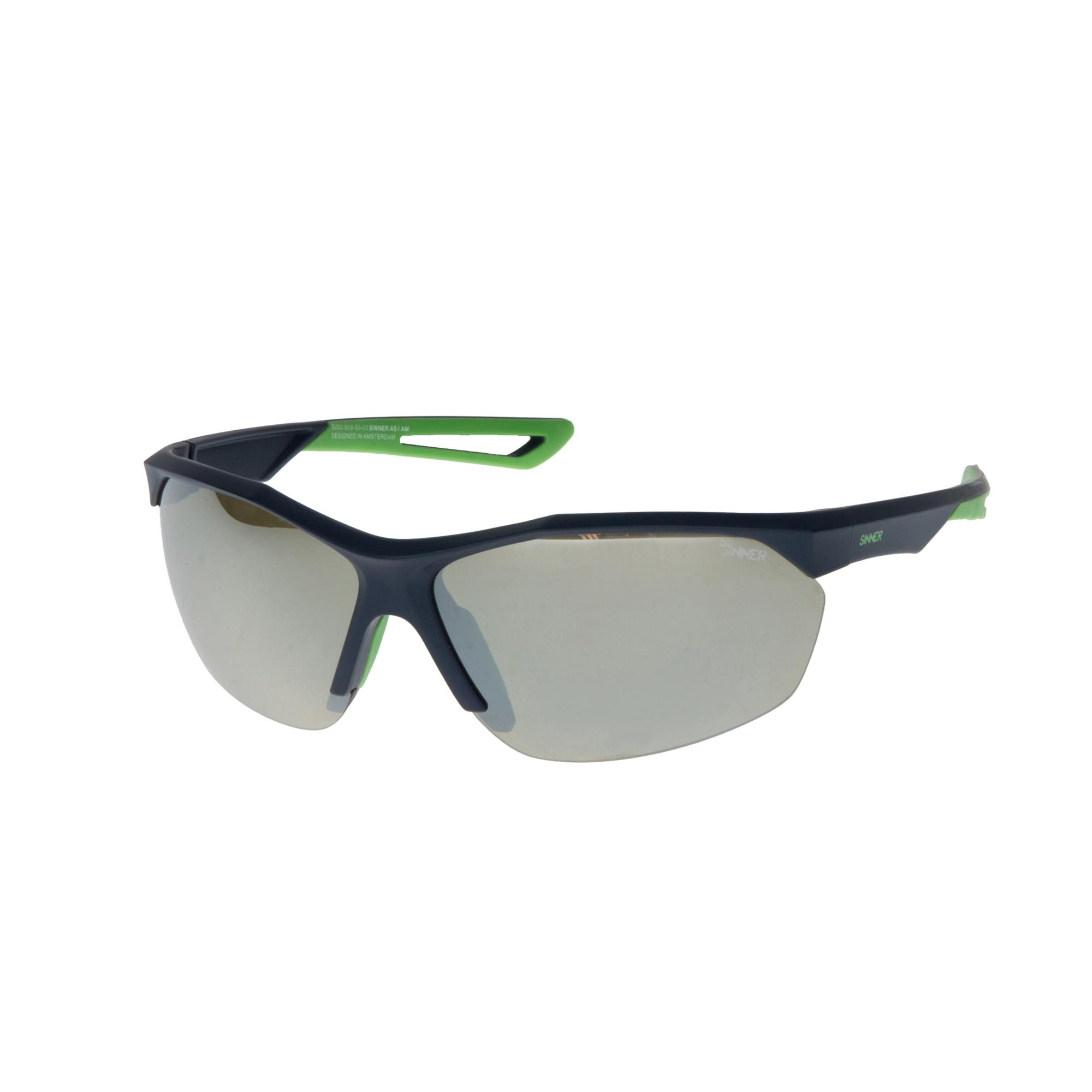 Sinner Pitch Golf Zonnebril - Mat Donkerblauw - Sintrast® Golf-lens