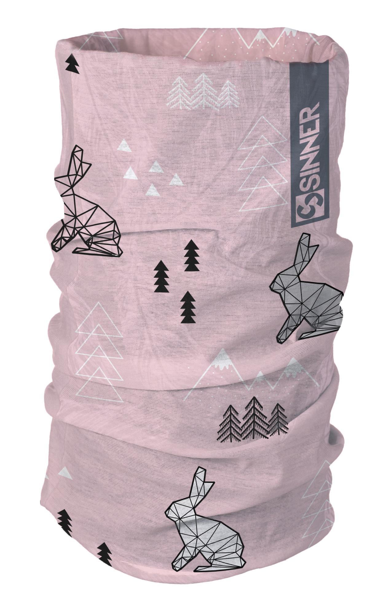 Sinner Bandana Winter Wonderland - Roze